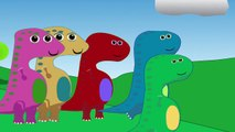 5 Little Dinos (not Ducks) Song   Nursery Rhyme for kids babies toddlers preschoolers