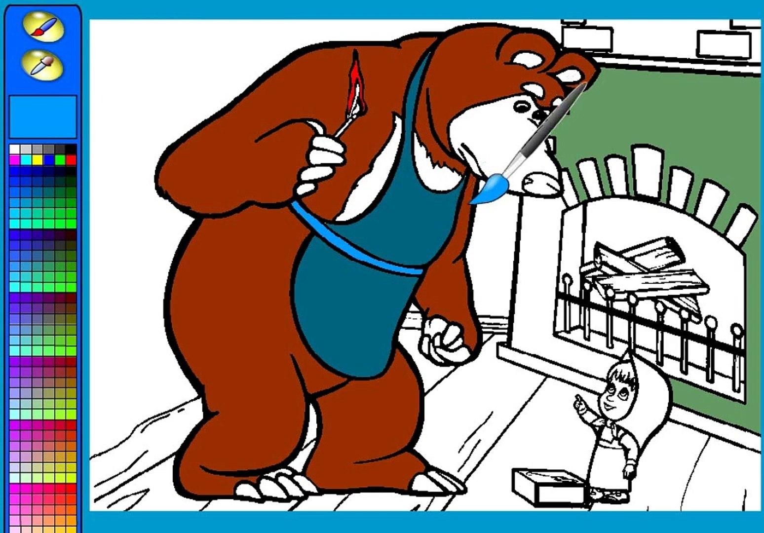 Маша и Медведь раскраска,Masha and the Bear coloring!!!