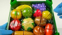 ☀ Toy Cutting Velcro Fruits and Vegetables ☀ Learn names of Fruits and Vegetables ☀