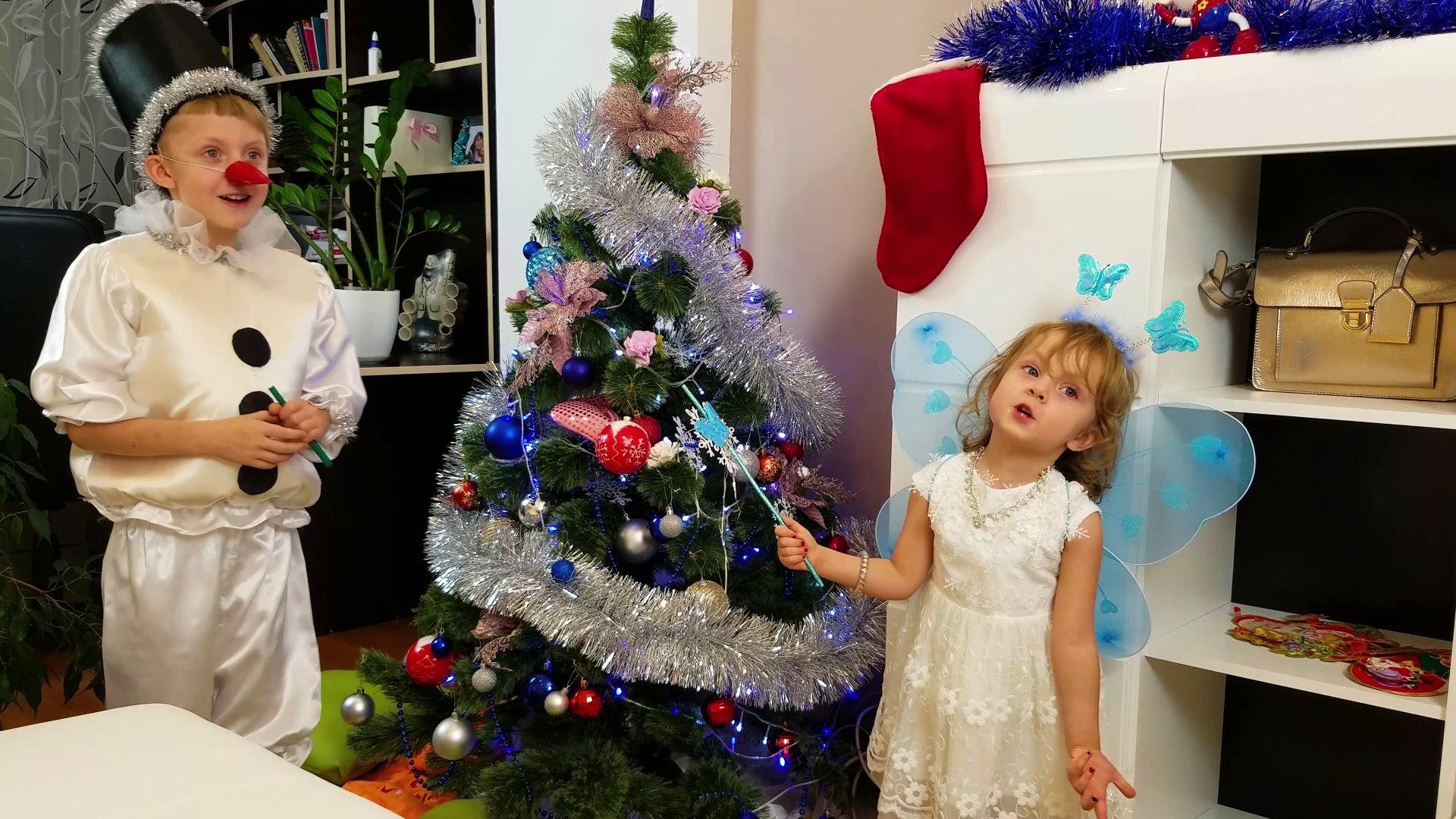 НОВЫЙ ГОД 2017! ЧУДЕСА и ФЕЯ! Наряжаем новогоднюю елку.Видео для детей Детский новый год