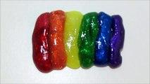 Slime Arcoiris Como hacer un arcoíris elástico super brillante