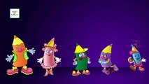 The Finger Family Crayons | Daddy Finger Crayons 3D Cartoon Kids Nursery Rhymes & Songs