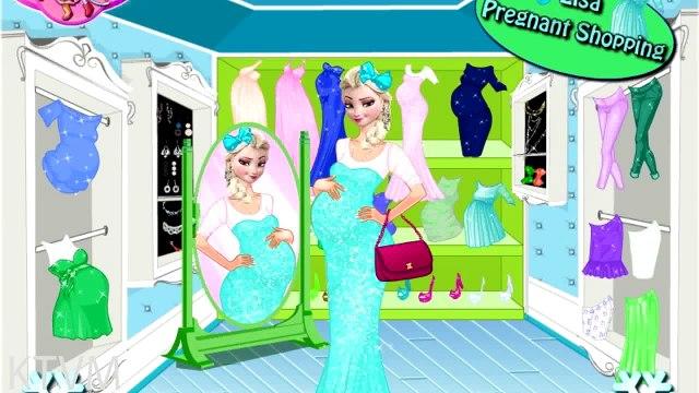 Disney Princess Frozen - Elsa Pregnant Shopping - Disney Princess Games