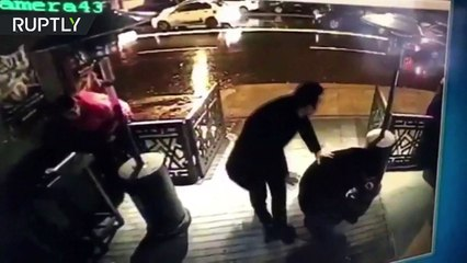 CCTV Footage Of Istanbul Nightclub Firing Incident