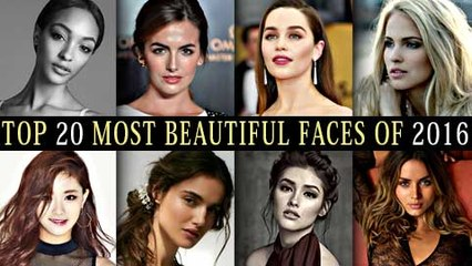 Top 20 Most Beautiful Faces Of 2016 | COUNTDOWN