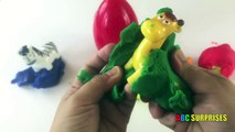 Play Doh Eggs Surprises Learn to spell colors and animals with ABC SURPRISES