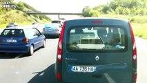Avion se crash sur une autoroute française