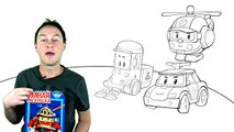 Robocar Poli Toy Cars Collection_ Rescue Team_ Learn to Paint English Colors Demo Review 2 (픽사 자동차)