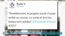 Les fautes d'orthographe de l'Élysée sur Twitter - ZAPPING ACTU DU 02/01/2017