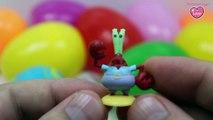10 Surprise Eggs SpongeBob SquarePants Patrick Squidward Puff Krabs Plankton Surprise Toys
