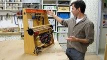 An interesting tool chest hinge mechanism