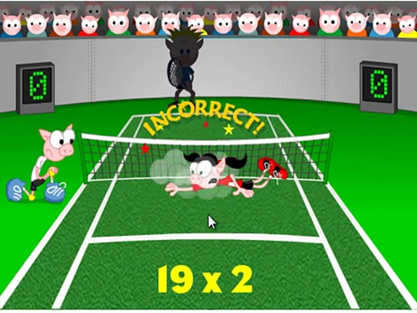 pig tennis game for kids , nice game for childrens , super game for kids , best game for child