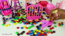 Baby Doll Potty Training - Baby Doll Eats M&Ms Candies and Poops - Baby Doll Poops