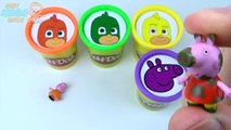 PJ MASKS Play Doh Clay Cups Surprise Toys Peppa Pig Learn Colours for Kids Disne
