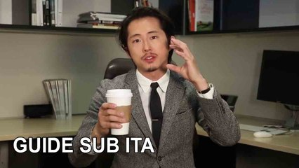 The Walking Dead Star Steven Yeun's Guide to Surviving a Zombie Apocalypse (at the Office) GQ - SUB ITA