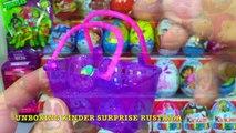 Unboxing Kinder Surprise 30 Киндер Сюрпризов Фиксики,Angry Birds,Свинка Пеппа,Маша и Медведь,МЛП