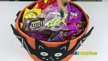 Learn to Count with Candy Skittles M&M Snickers Butterfinger Shopkins Egg Surprise Toys lea