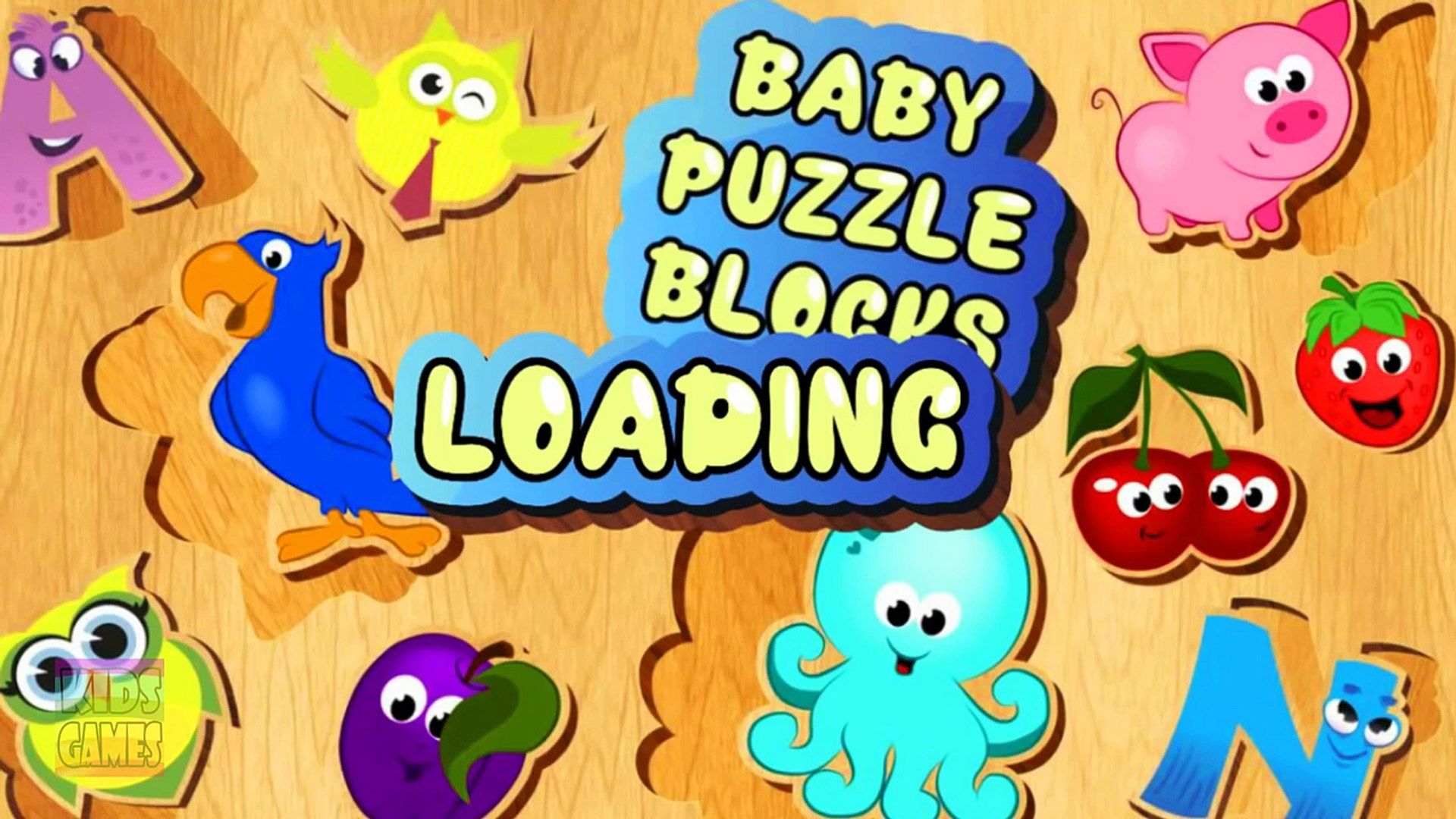 Puzzles For Kids. Education Video. Learning Game App for Toddlers.