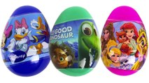 Opening The Good Dinosaur Surprise Eggs Mickey Mouse Donald Duck Daisy Palace Pets Disney