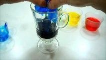 Slime Arcoiris - Como hacer una copa arcoiris con flubber gelatinoso - juguete