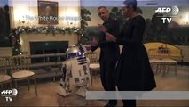 Obamas dance with Stormtroopers and R2-D2