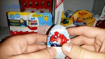 Surprise Eggs Toys Cars Spiderman Dusty Disney Planet Inside Out Kinder Surprise Opening Unboxing #1