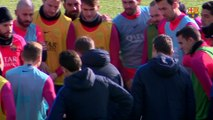 FC Barcelona training session: Festive open door training session to prepare for Copa del Rey match