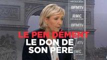 """Marine Le Pen : """"Ce n'est pas l'argent de Jean-Marie Le Pen, c'est l'argent des militants"""""""
