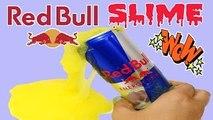 DIY Red Bull Slime, How to Make Red Bull Slime ? redbull
