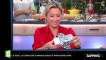 C à vous: le cadeau coquin d'Arnaud Ducret à Anne-Sophie Lapix (déo)