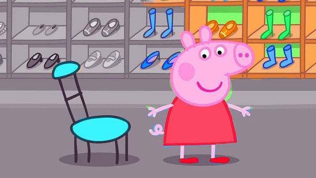 Coloring Pages Peppa Pig Peppa Shopping New Shoes. Peppa Coloring Book #19