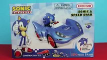 Sonic Toys Sonic The Hedgehog Sonic And Speed Star Race Car Sonic Action Figure and Trophy