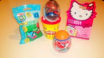 Spiderman Eggs, Hello Kity, Surprise Eggs Disney Planes,Thomas & Friends