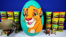 GIANT SIMBA Surprise Egg Play Doh - The Lion King Toys Disney POP TMNT Adventure Time