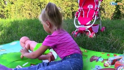 МАША И МЕДВЕДЬ Прогулка с коляской - Пикник у реки c Беби Бон Baby Born Doll & Masha and the Bear