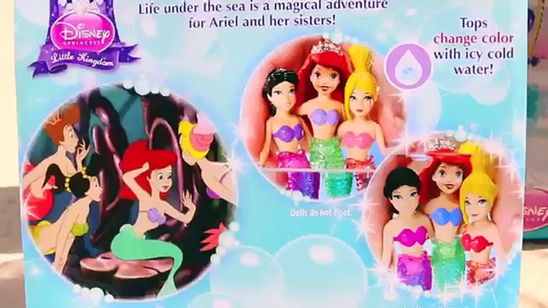 Ariel 39 S Floating Fountain Little Mermaid Sisters Color Changers Amp Fairytale Float Disneycartoys Video Dailymotion