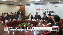 Internal conflict over interim leader's personnel shakeup intensifies