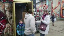 Disco ball in a telephone box_ Germany's smallest nightclub