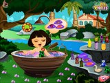 Cute Dora Bathing Gameplay - Baby Bathing Games - Dora The Explorer Games for little Girls