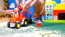 Tractors for children - Tractor videos for children - Animals toys - Tractors f