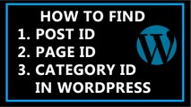 How To Find Post ID, Page ID, and Category ID in wordpress?