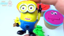 Play Dough Ice Cream Cups Surprise Toys Paw Patrol Dora Minions Masha Learn Colors Creative for Kids