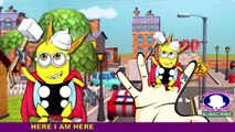 Minions Finger family Rhymes For Kids   123 Songs ABC Songs For Children   Tiger Finger family