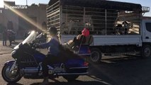'Hells Angels'-style bikers ride through sleepy Oman town