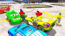 Hulk Colors Dancing Party and Lightning McQueen Cars Nursery Rhymes Children Songs with Action
