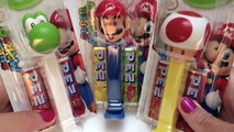 Super Mario Pez Dispensers Collection Candies Dispenders Mario Bros Nintendo Game Wii