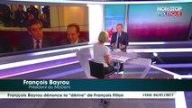 """Présidentielle 2017 : François Bayrou dénonce la """"dérive"""" de François Fillon"""
