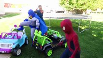 FUN Ride on Car Superhero Car Dance! Carpool Power Wheels! Superman, Batman | Comic Street Vehicles