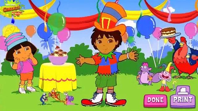 Dora the Explorer Dora and Diego Silly Costume Maker cartoon game Dora exploradora en espanol MPBA0a