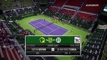 ATP Doha: Dustin Brown - Jo-Wilfried Tsonga (Özet)